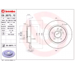 Disco freno (08.9975.11) per per Centralina elettronica/Relè/Sensori FORD FOCUS C-MAX 2.0 TDCi dal Anno 10.2003 136 CV di BREMBO