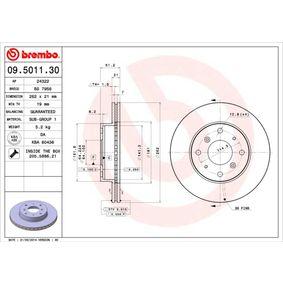 Спирачен диск 09.5011.30 800 (XS) 2.0 I/SI Г.П. 1995