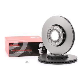 Bremsscheibe Bremsscheibendicke: 25mm, Lochanzahl: 5, Ø: 288mm mit OEM-Nummer 8E0615301Q