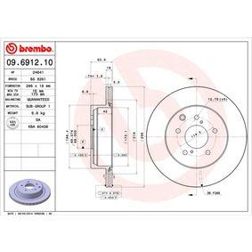 Bremsscheibe Bremsscheibendicke: 18mm, Lochanzahl: 5, Ø: 296,5mm mit OEM-Nummer 43206 20U00