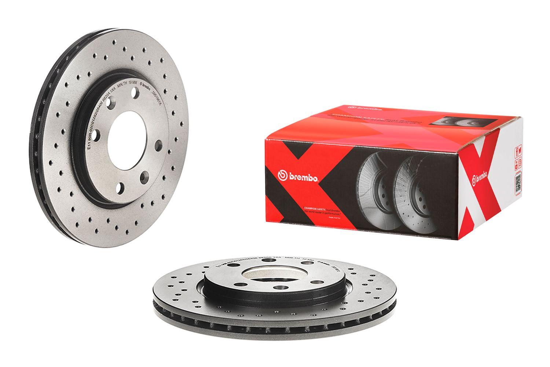 BREMBO  09.7011.24 Bremsscheibe Bremsscheibendicke: 22mm, Lochanzahl: 5, Ø: 256mm