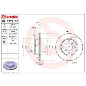 Regulador de Presión de Combustible SUZUKI BALENO Fastback (EG) 1.6 i 16V 4x4 de Año 07.1995 98 CV: Disco de freno (09.7279.10) para de BREMBO