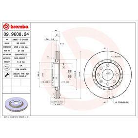 Bremsscheibe Bremsscheibendicke: 24mm, Lochanzahl: 4, Ø: 256mm mit OEM-Nummer 96179110