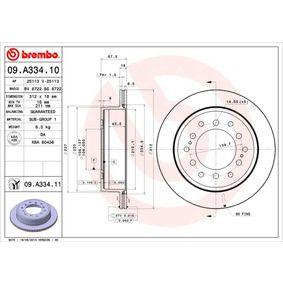 Disque de frein Épaisseur du disque de frein: 18mm, Nbre de trous: 6, Ø: 312mm avec OEM numéro 42431 60190
