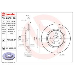 Brake Disc Article № 09.A866.10 £ 140,00