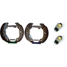 Brake Set, drum brakes K 23 047 PUNTO (188) 1.2 16V 80 MY 2000