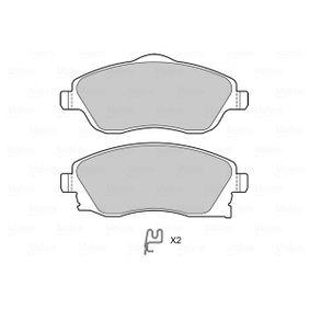 Bremsbelagsatz, Scheibenbremse Breite: 131,5mm, Höhe 2: 56mm, Höhe: 52,5mm, Dicke/Stärke: 17mm mit OEM-Nummer 95519746