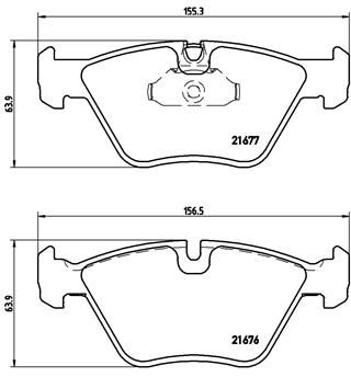 Bremsbeläge P 06 022 BREMBO 8522D1410 in Original Qualität
