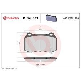 Bremsbelagsatz, Scheibenbremse Breite: 119,8mm, Höhe: 73,6mm, Dicke/Stärke: 14,3mm mit OEM-Nummer 89047744