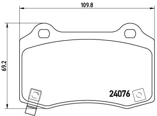 Bremsbeläge P 11 024 BREMBO D12707831 in Original Qualität
