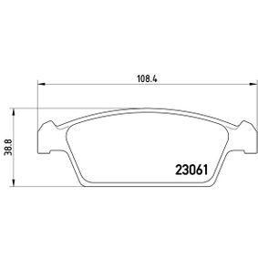 P 15 001 BREMBO 23061 in Original Qualität