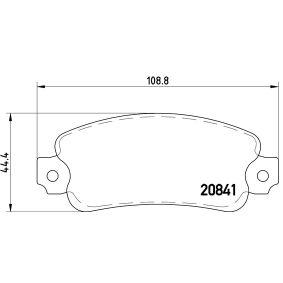 Bremsbelagsatz, Scheibenbremse Breite: 109mm, Höhe: 44mm, Dicke/Stärke: 12mm mit OEM-Nummer 791873