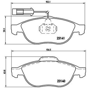 Brake Pad Set, disc brake P 23 075 PUNTO (188) 1.2 16V 80 MY 2000