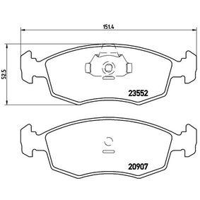 Bremsbelagsatz, Scheibenbremse Breite: 151,4mm, Höhe: 52,5mm, Dicke/Stärke: 18mm mit OEM-Nummer 9 949 125