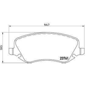 Bremsbelagsatz, Scheibenbremse Breite: 146,7mm, Höhe: 59,5mm, Dicke/Stärke: 18,8mm mit OEM-Nummer 77362272