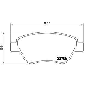 Bremsbelagsatz, Scheibenbremse Breite: 122,8mm, Höhe: 53,3mm, Dicke/Stärke: 17,8mm mit OEM-Nummer 77 363 992