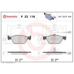 Bremsbelagsatz, Scheibenbremse Art. Nr. P 23 116 120,00€