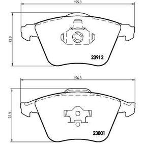 Комплект спирачно феродо, дискови спирачки ширина 1: 156,3мм, ширина 2: 155,3мм, височина: 72,9мм, дебелина: 18,5мм с ОЕМ-номер 23912