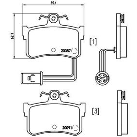 Комплект спирачно феродо, дискови спирачки P 28 015 800 (XS) 2.0 I/SI Г.П. 1995