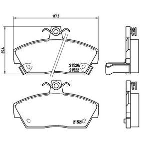 Bremsbelagsatz, Scheibenbremse Breite: 117,3mm, Höhe: 65,4mm, Dicke/Stärke: 18mm mit OEM-Nummer GBP 90314
