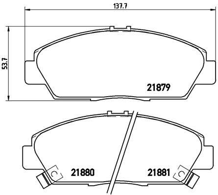 Brake Pads P 28 021 BREMBO D5687448 original quality