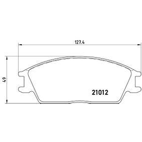 Bremsbelagsatz, Scheibenbremse Breite: 127,4mm, Höhe: 49mm, Dicke/Stärke: 14,8mm mit OEM-Nummer 58101-1CA10