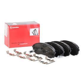 Bremsbelagsatz, Scheibenbremse Breite: 164,6mm, Höhe: 63,4mm, Dicke/Stärke: 17,6mm mit OEM-Nummer 581014DE00