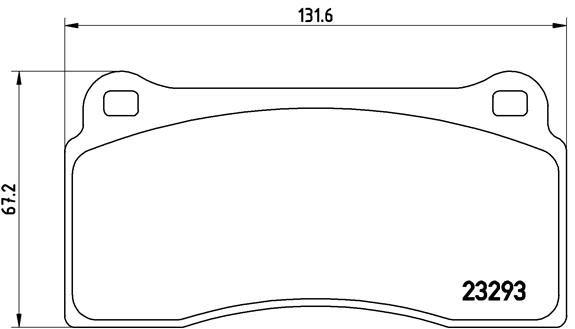 Bremsbeläge P 36 018 BREMBO 7684D810 in Original Qualität