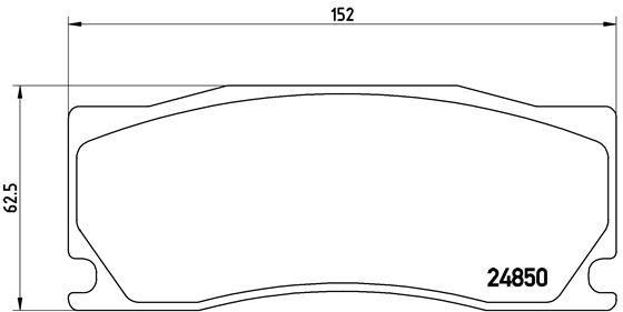 Bremsbeläge P 36 023 BREMBO 8464D1355 in Original Qualität