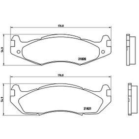 Bremsbelagsatz, Scheibenbremse Breite: 176,8mm, Höhe: 54,9mm, Dicke/Stärke: 15,5mm mit OEM-Nummer 21820