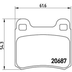 Bremsbelagsatz, Scheibenbremse Breite: 61,6mm, Höhe: 54,3mm, Dicke/Stärke: 13,5mm mit OEM-Nummer A 000 420 88 20