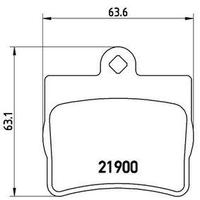 Bremsbelagsatz, Scheibenbremse Breite: 63,6mm, Höhe: 63,1mm, Dicke/Stärke: 15,8mm mit OEM-Nummer A002 420 5120