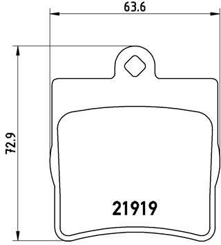 Remblokken P 50 025 BREMBO 7657D779 van originele kwaliteit