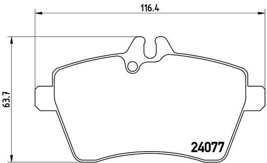 Brake Pads P 50 056 BREMBO 24077 original quality