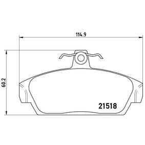 Brake Pad Set, disc brake Article № P 52 015 £ 150,00