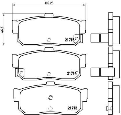 Bremsbeläge P 56 029 BREMBO D5957421 in Original Qualität