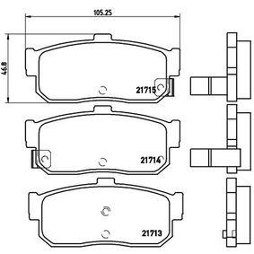 Bremsbelagsatz, Scheibenbremse Breite: 105,3mm, Höhe: 46,8mm, Dicke/Stärke: 16,4mm mit OEM-Nummer 44060 4U090