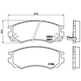 Bremsbelagsatz, Scheibenbremse Breite: 127,5mm, Höhe: 51,9mm, Dicke/Stärke: 15mm mit OEM-Nummer D1060 0N685
