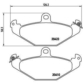 Bremsbelagsatz, Scheibenbremse Breite: 126,2mm, Höhe: 58,3mm, Dicke/Stärke: 12,9mm mit OEM-Nummer 6002446