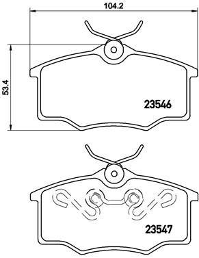 Bremsbeläge P 59 034 BREMBO 8284D1173 in Original Qualität