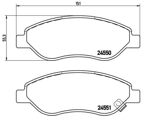 Brake Pads P 59 053 BREMBO 24550 original quality