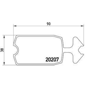Bremsbelagsatz, Scheibenbremse Art. Nr. P 61 002 120,00€