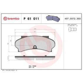 Brake Pad Set, disc brake Article № P 61 011 £ 140,00