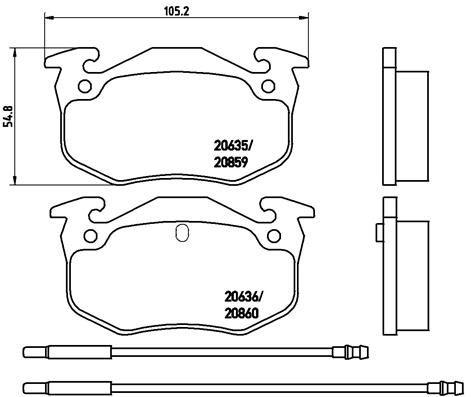 Brake Pads P 61 029 BREMBO 8341D1220 original quality