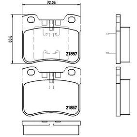 Bremsbelagsatz, Scheibenbremse Art. Nr. P 61 059 120,00€