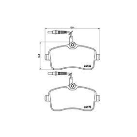 Bremsbelagsatz, Scheibenbremse Breite: 131,4mm, Höhe: 66,8mm, Dicke/Stärke: 18,7mm mit OEM-Nummer 1611456580