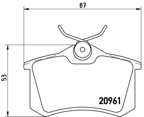 Artikelnummer 7773D894 BREMBO Preise