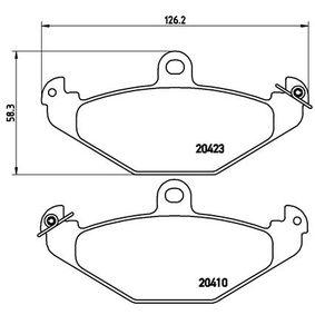 Bremsbelagsatz, Scheibenbremse Breite: 126mm, Höhe: 58mm, Dicke/Stärke: 15mm mit OEM-Nummer 7701 203 124