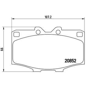 Bremsbelagsatz, Scheibenbremse Breite: 107,2mm, Höhe: 66,0mm, Dicke/Stärke: 15,5mm mit OEM-Nummer 04465 60010