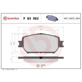 Bremsbelagsatz, Scheibenbremse Breite: 131,6mm, Höhe: 58,3mm, Dicke/Stärke: 17mm mit OEM-Nummer 04465-33250